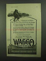 1921 WASCO Garage Heating System Ad - Deserve to Walk