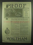 1920 Waltham Riverside Watch Ad - NICE!