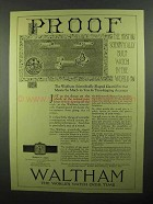 1920 Waltham 7 1/2 Ligne Watch Ad - Proof