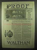 1920 Waltham Colonial A Watch Ad - Proof