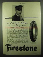 1920 Firestone Tires Ad - 12,168,676 Miles
