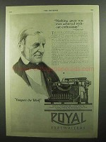 1920 Royal Typewriters Ad - Nothing Great Achieved