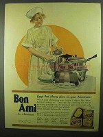 1920 Bon Ami Ad - Keep that Silvery Gloss on Aluminum