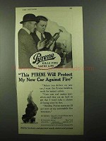 1920 Pyrene Fire Extinguisher Ad - Protect My Car