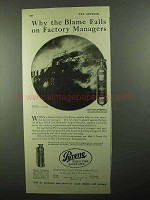 1920 Pyrene Fire Extinguisher Ad - Factory Managers
