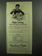 1920 Quaker Oats Ad - High Living