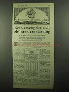 1920 Pettijohn's Cereal Ad - Rich Children Starving