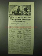 1920 Pettijohn's Cereal Ad - Red-Blooded Americans