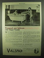 1920 Valentine's Valspar Ad - Waterproof Your Bathroom