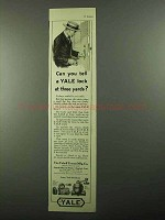 1920 Yale Locks, Night Latches and Door Closers Ad - Can You Tell