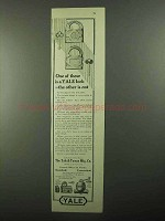 1920 Yale Locks, Night Latches and Door Closers Ad