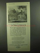 1920 American Face Brick Ad - Robert E. Seyfarth House