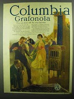 1920 Columbia Grafonola Ad - Dance Till The Last Note