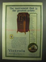 1920 Victor Victrola Ad - Instrument That Is Greatest