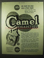 1920 Camel Cigarettes Ad - As Sure As a Foot High