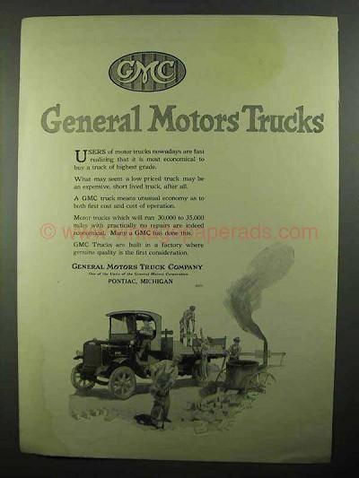 1920 Gmc General Motors Trucks Ad
