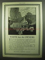 1920 White Trucks Ad - White Has The Owners