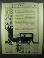 1920 Franklin Sedan Ad - NICE