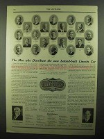 1920 Lincoln Cars Ad - The Men Who Distribute