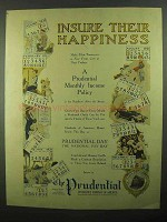 1920 Prudential Insurance Ad - Insure Their Happiness