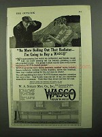 1920 WASCO Garage Heating System Ad - No Boiling Out
