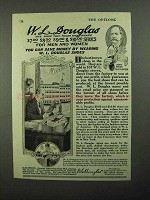 1920 W.L. Douglas Shoe Ad - Holds Its Shape
