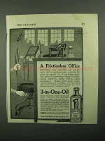 1920 3-in-One Oil Ad - A Frictionless Office