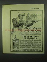 1920 3-in-One Oil Ad - Always Among The High Guns