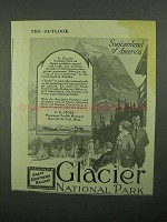 1920 Great Northern Railway Ad - Switzerland of America
