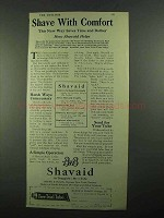 1919 Bauer & Black Shavaid Ad - Shave with Comfort