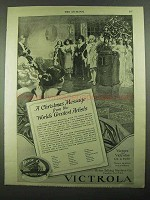 1919 Victor Victrola Ad - A Christmas Message