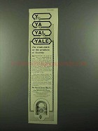1919 Yale Locks Ad - The Trade-Mark on Security
