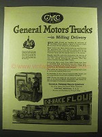 1919 GMC General Motors Trucks Ad - in Milling Delivery
