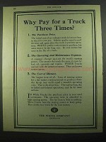 1919 White Trucks Ad - Why Pay For Three Times