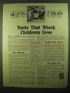 1918 Parents Association Ad - Traits That Wreck Lives