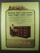 1918 Art Metal Steel Office Furniture Ad - Looks Better
