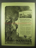 1918 Johns-Manville Asbestos Roofing Ad - The Lesson