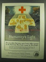 1918 Prudential Insurance Ad - Humanity's Light
