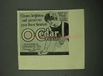 1918 O-Cedar Polish Ad - Cleans, Brightens Preserves