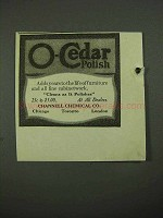1918 O-Cedar Polish Ad - Adds Years to Furniture