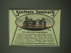 1918 Southern Seminary Ad - For Girls and Young Women