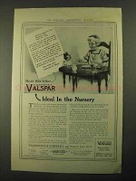 1916 Valentine's Valspar Ad - Ideal in the Nursery