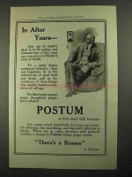 1916 Postum Drink Ad - In After Years