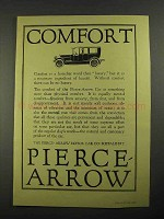 1916 Pierce-Arrow Car Ad - Comfort