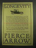 1916 Pierce-Arrow Car Ad - Longevity