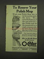 1916 O-Cedar Polish Ad - To Renew Your Polish Mop
