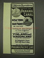 1915 Panama Pacific Lines Ad - California Expositions