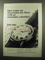 1970 Timex Electronic Watch Model 99041 Ad - Just One