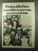 1970 South Carolina Industrial Development Ad - Labor