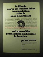 1970 Illinois Business & Economic Development Ad - Location, Labor
